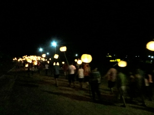 Lantern parade to township