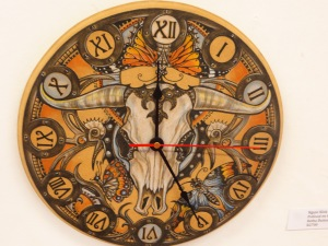 A painted clock