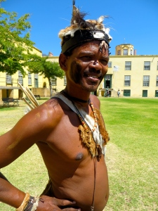 Portrait of a Bushman tracker at the Cape Town Castle